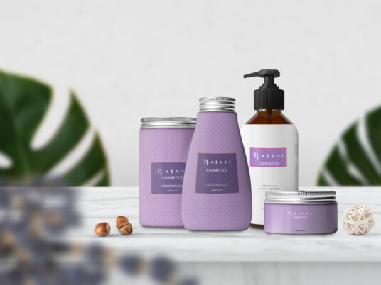 Free Download Set Cosmetic Packaging Mockup PSD