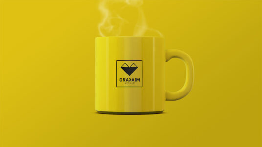 Free Download Simple Coffee Cup Mockup PSD
