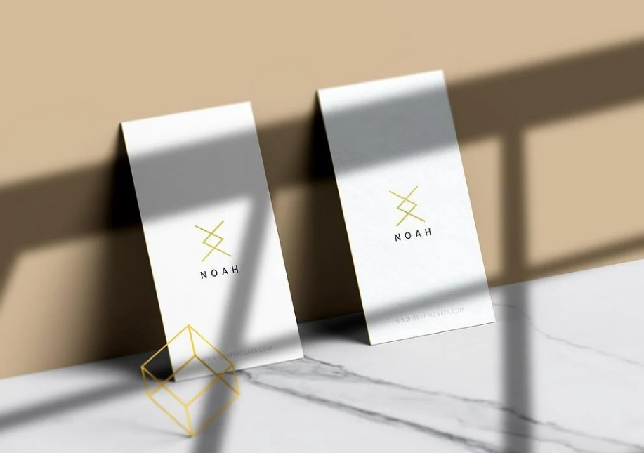 Free Download Soft Shadow Style Business Card Mockup PSD