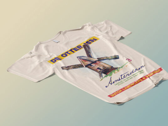 Free Download Stretched T-shirt Mockup PSD