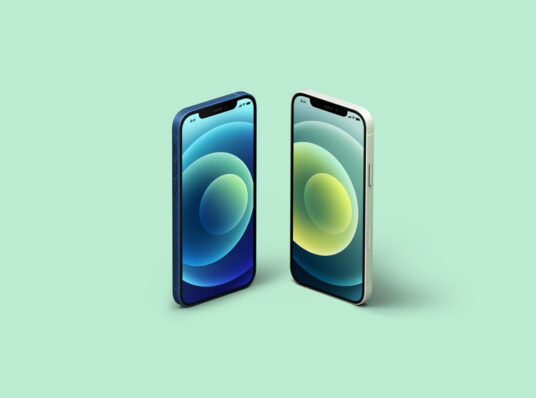 Free Download Two iPhone 12 Mockup PSD