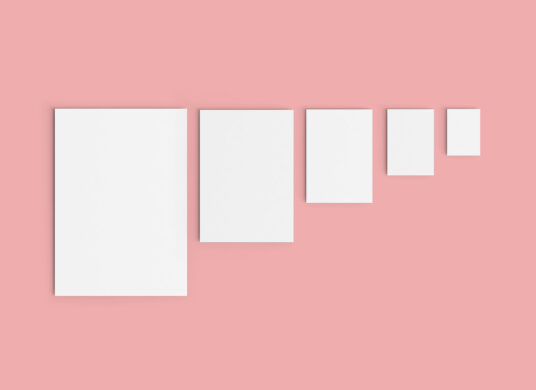 Free Download Various Paper Size Mockup PSD