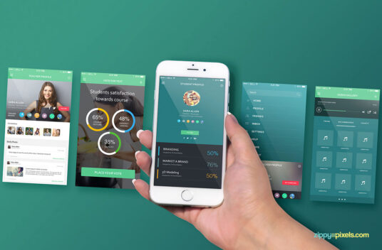 Free Download iPhone Apps Screen Mockup PSD