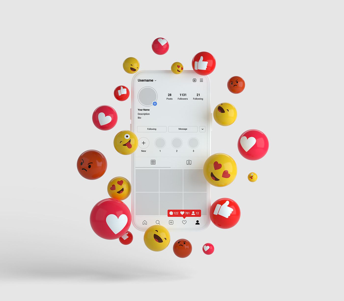 Free Download 3D Emojies Icon PSD