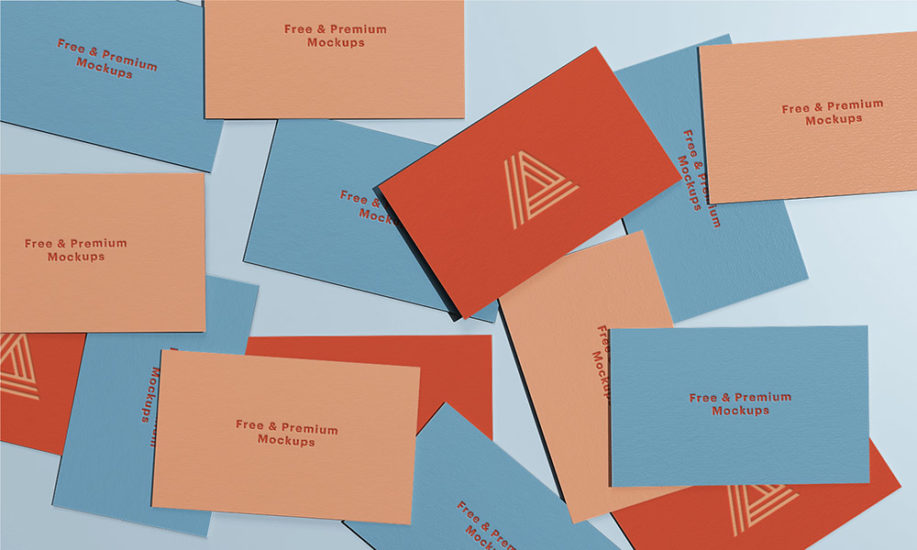 Free Download A Lot Business Card Mockup PSD