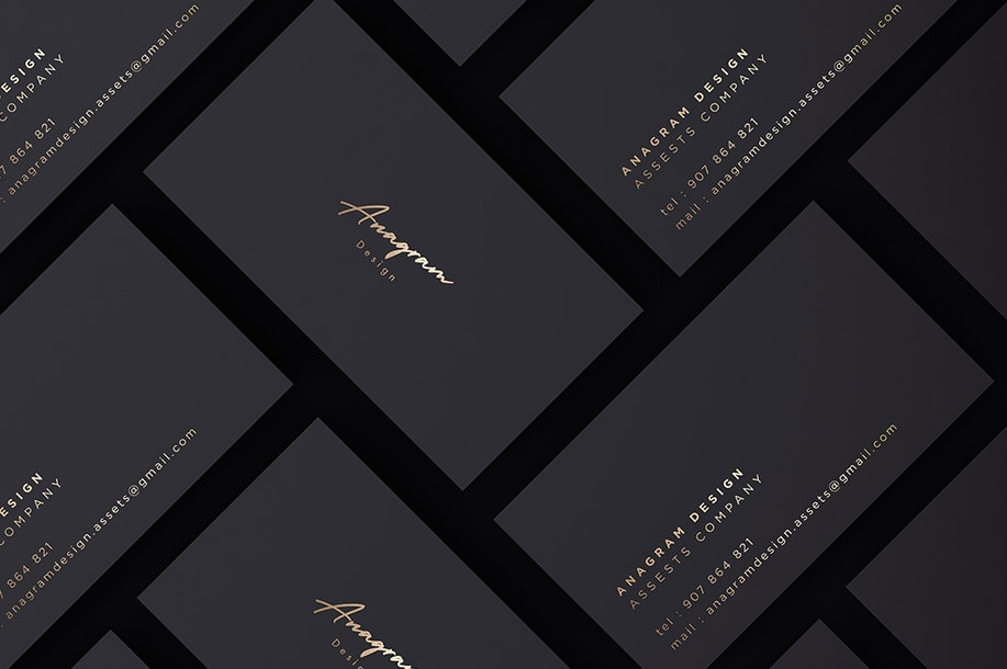 Free Download Black and Gold Foil Stationary Mockup PSD