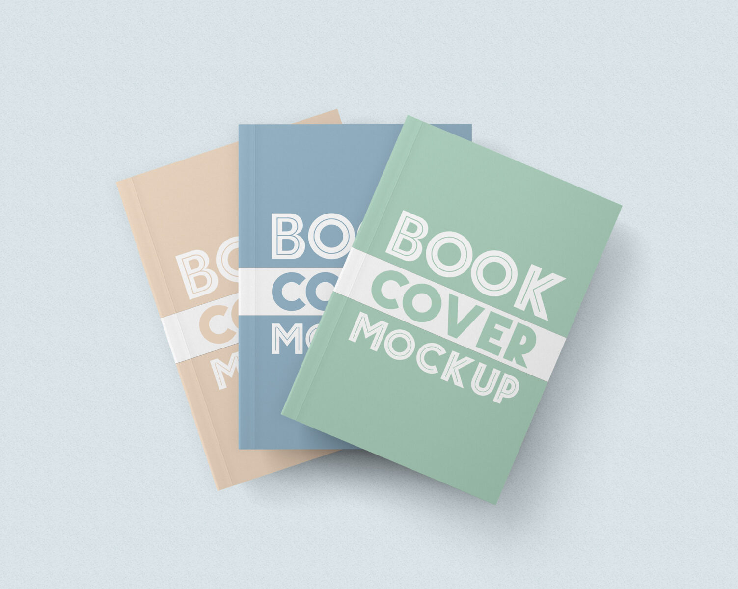 Free Download Clean Soft Book Cover Mockup PSD