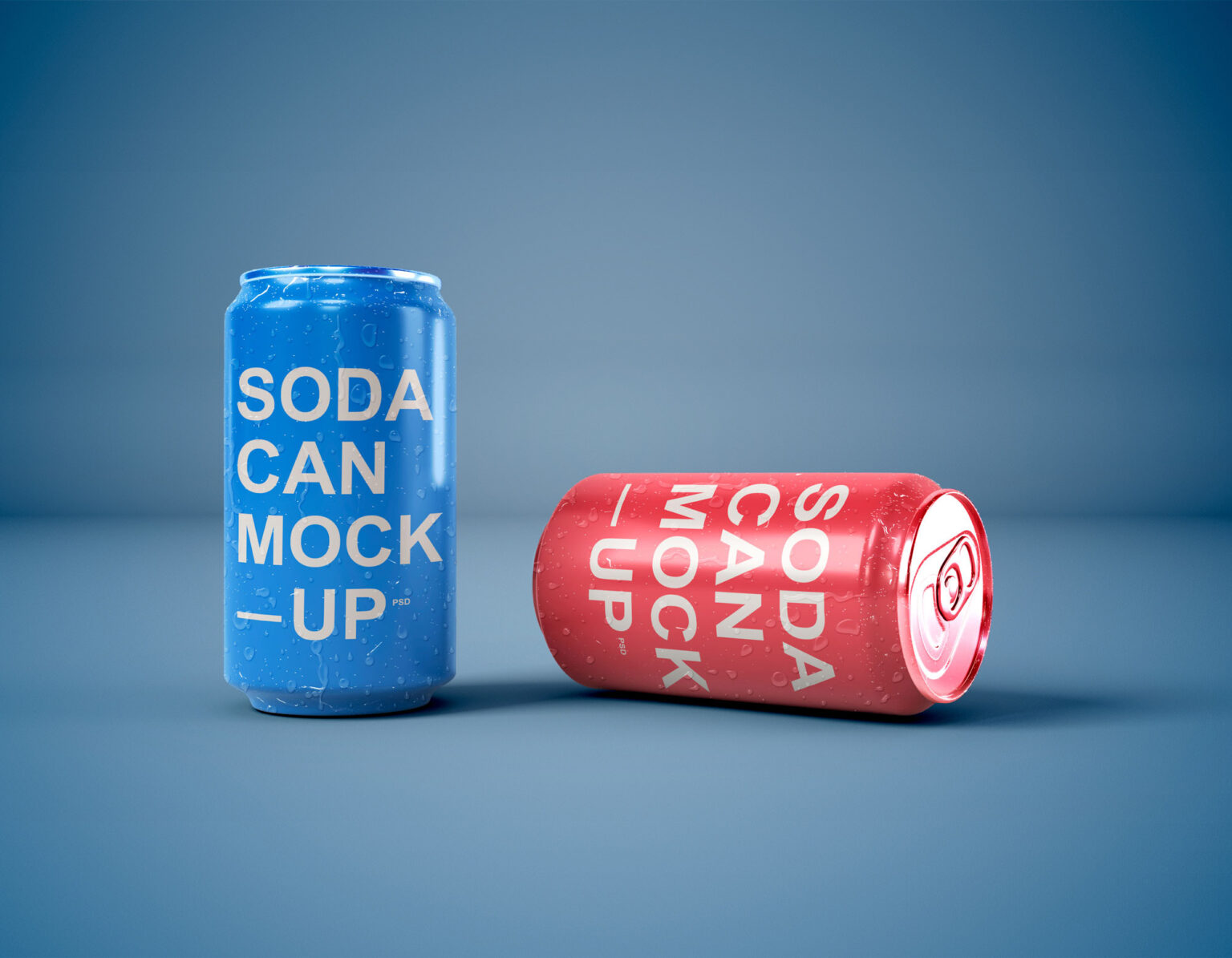 Free Download Juice Soda Can Packaging Mockup PSD