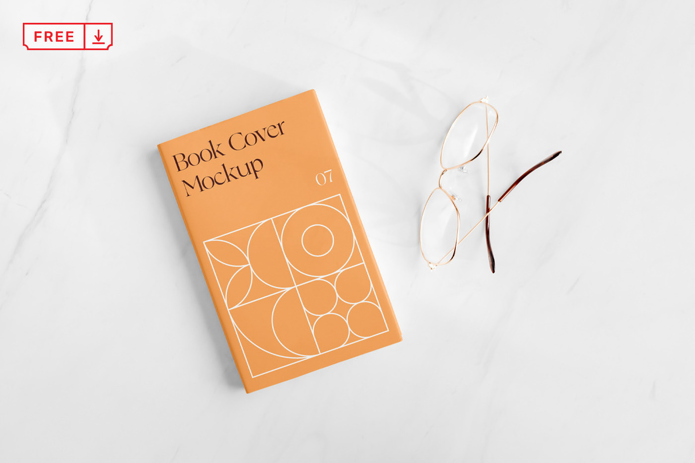 Free Download Small Book Cover Mockup PSD