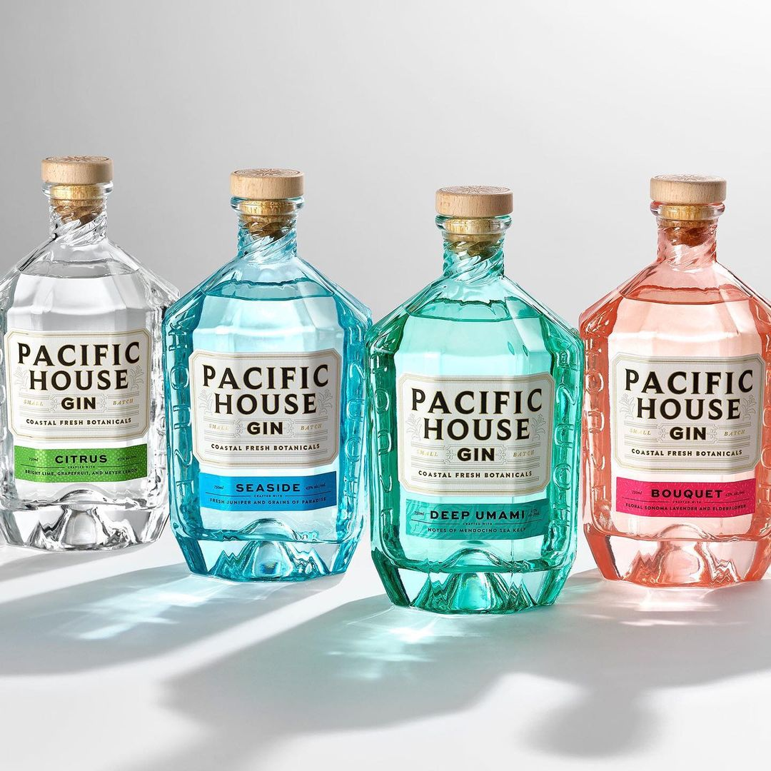 Pacific House Gin Bottle Packaging Design Inspiration 1