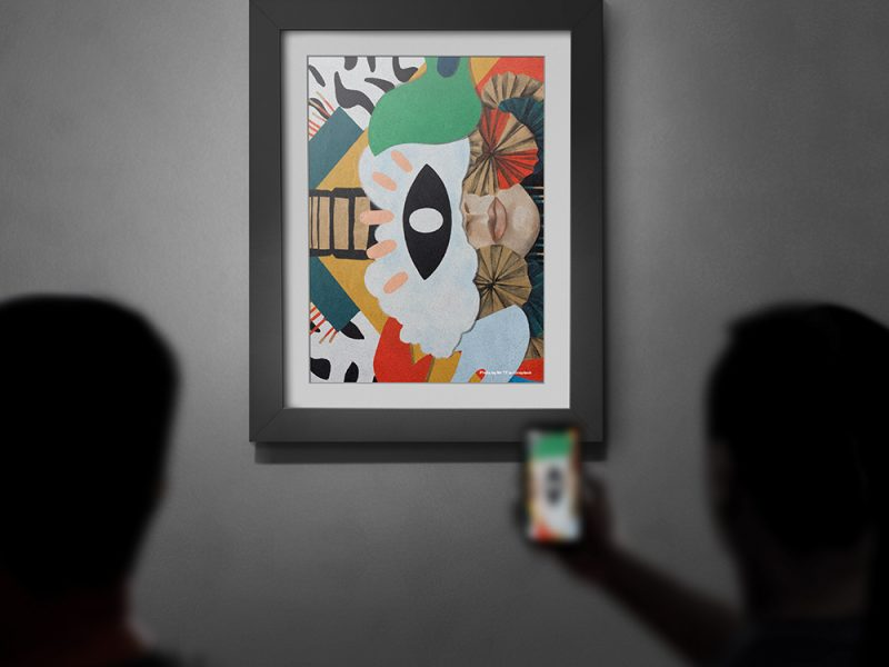 Free Download Art Picture Frame Mockup PSD