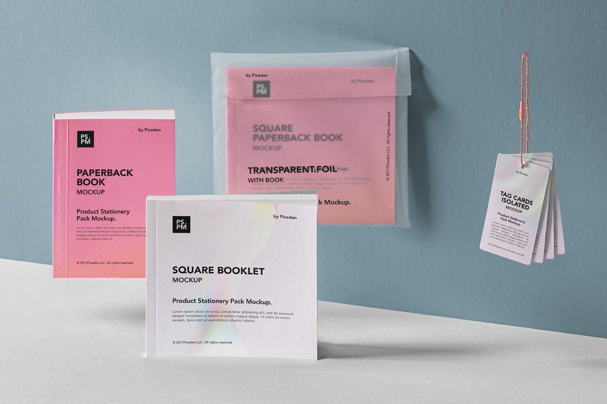 Free Download Booklet Product Info Design Mockup PSD
