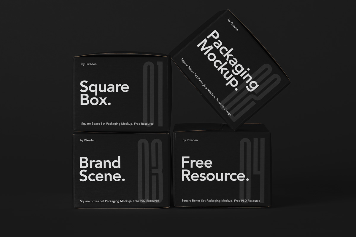 Free Download Cosmetic Box Packaging Mockup PSD