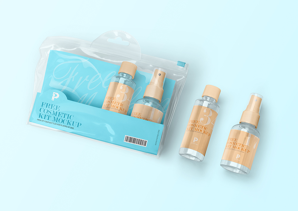 Free Download Cosmetic Spray Packaging Mockup PSD
