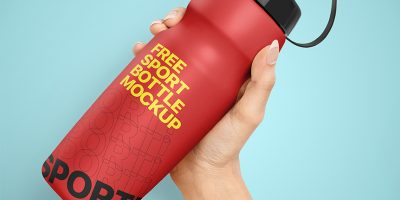 Free Download Cycling Bottle Mockup PSD