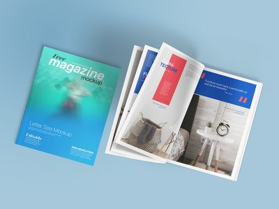 Free Download Letter Magazine Page Mockup PSD