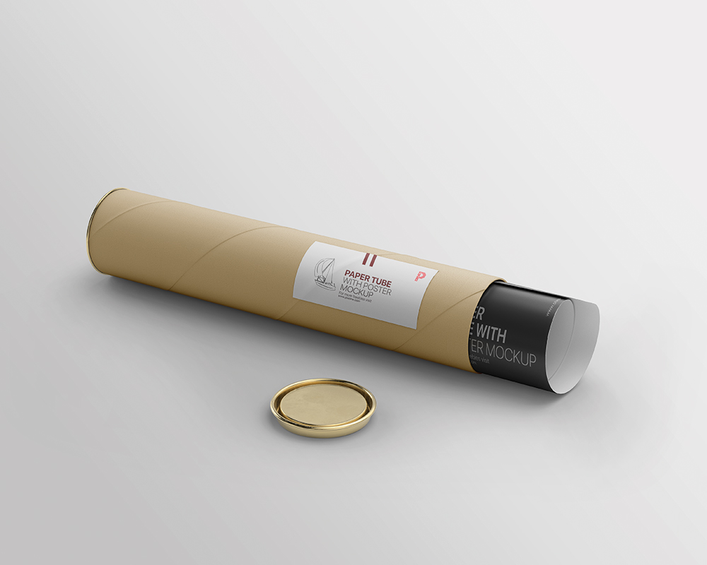 Free Download Poster Paper Tube Packaging Mockup PSD