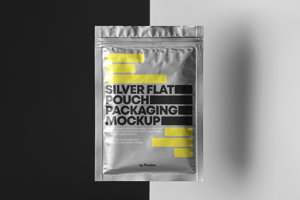 Free Download Pouch Foil Packaging Mockup PSD