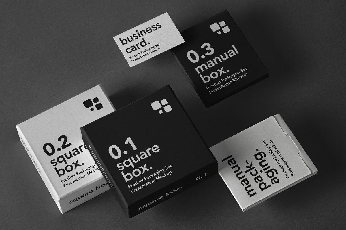 Free Download Product Box Packaging Mockup PSD