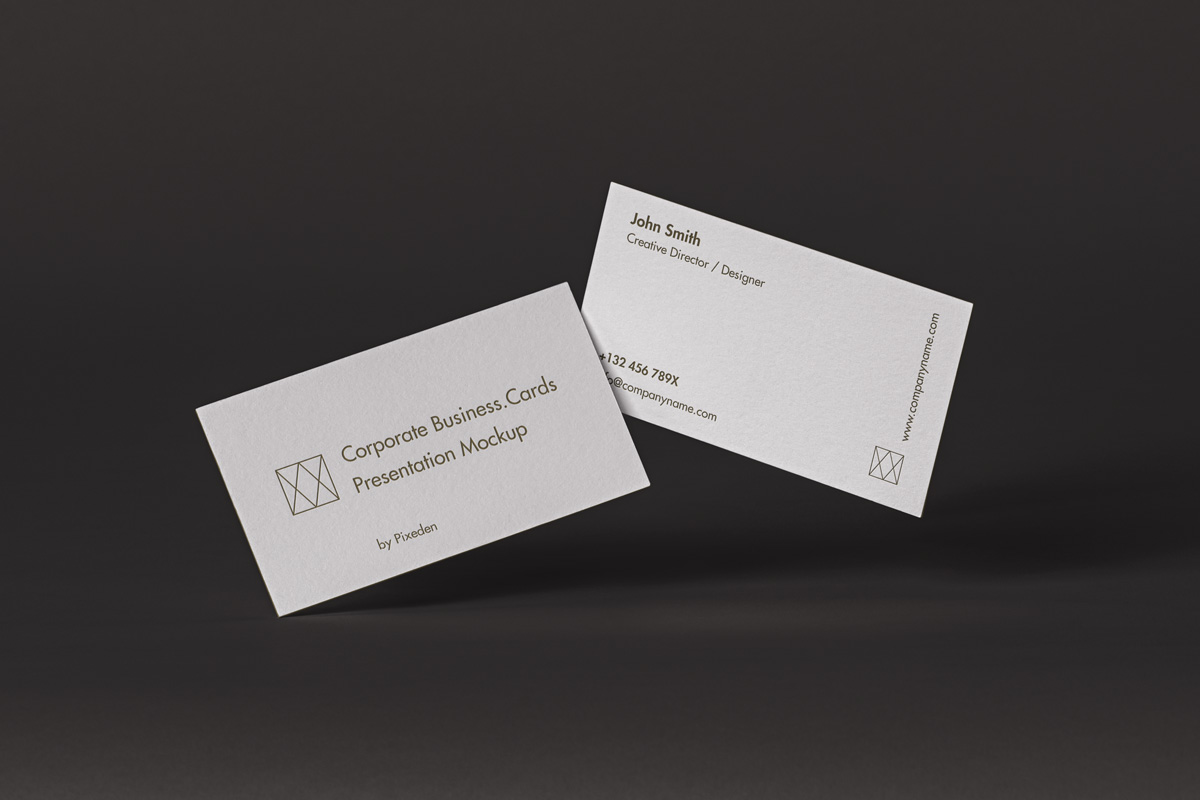 Free Download Professional Corporate Business Card Mockup PSD