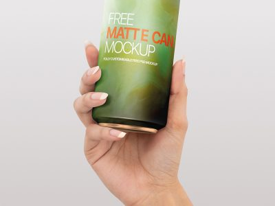 Free Download Realistic Matte Can Mockup PSD