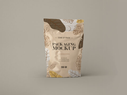 Free Download Sealed Pouch Packaging Mockup PSD