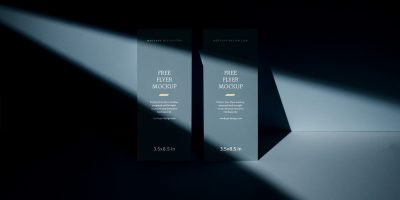 Free Download Shadow Style Flyer Mockup PSD