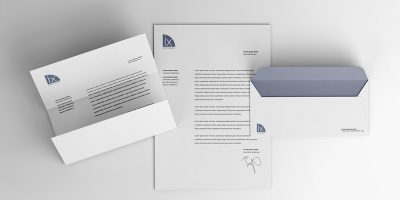 Free Download Simple Letterhead and Envelope Mockup PSD