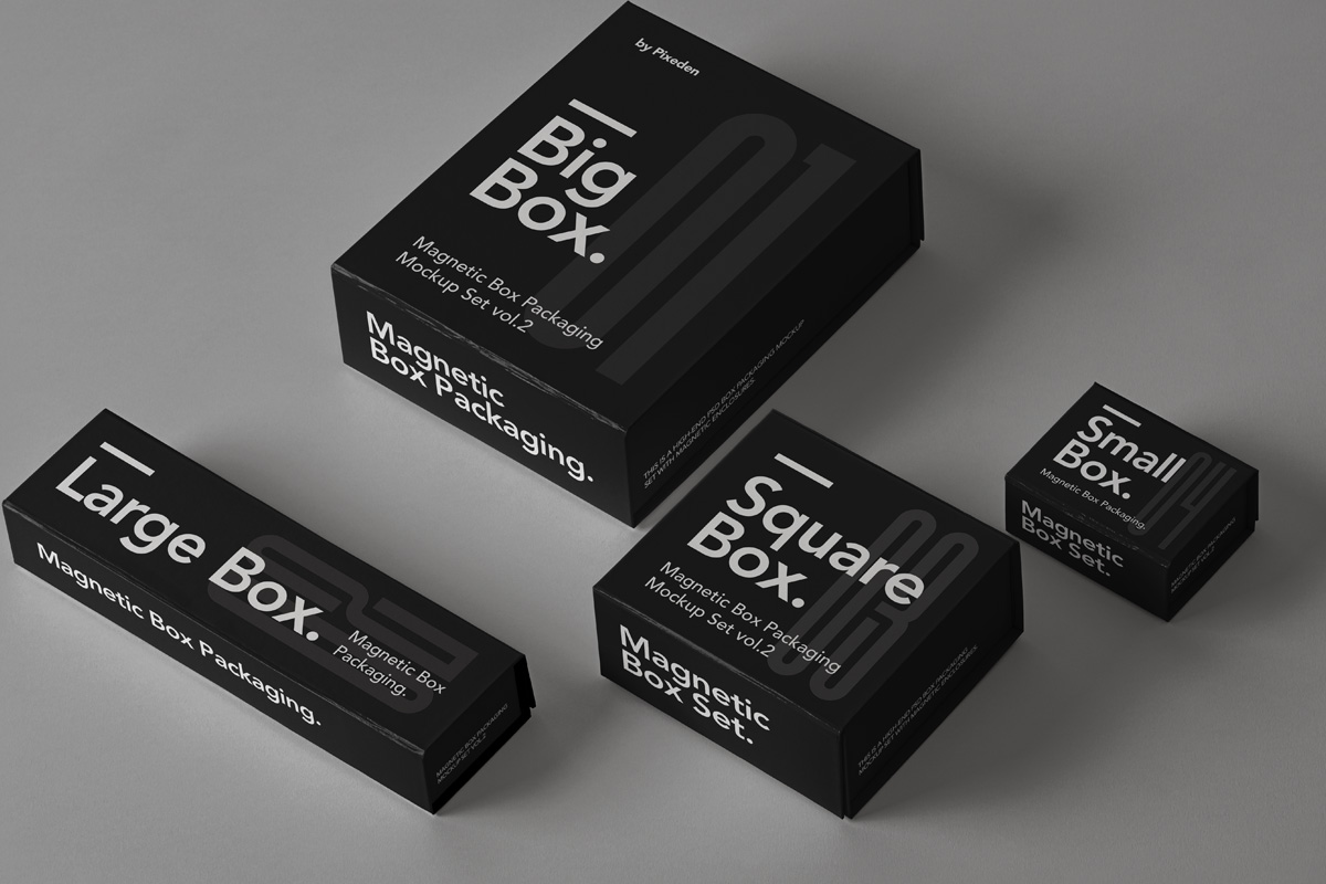 Free Download Small Square Box Packaging Mockup PSD