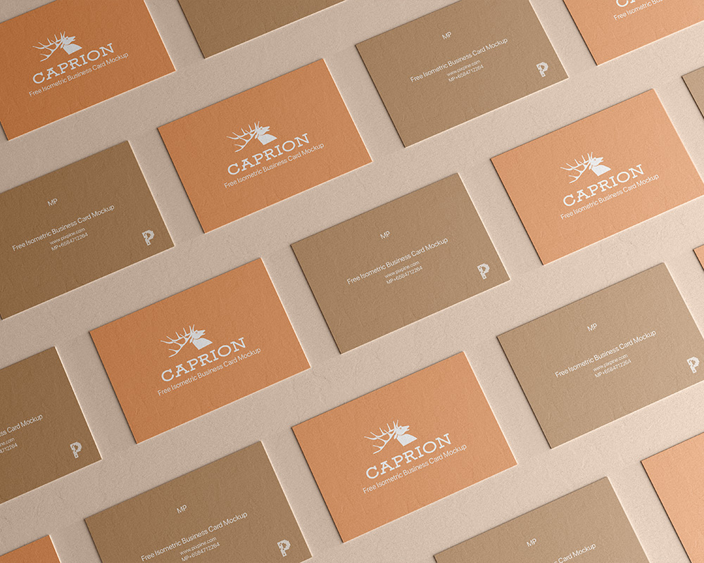 Free Download Texture Business Card Design Mockup PSD