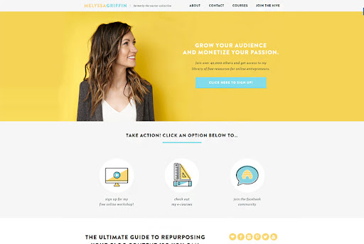 Yellow Website Color Palettes Inspiration